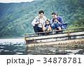 釣りを楽しむ家族 34878781