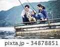 釣りを楽しむ家族 34878851