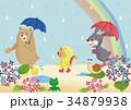 雨 雨具 梅雨のイラスト 34879938