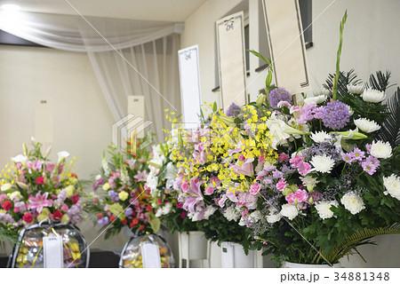 お葬式イメージ(供花) 34881348
