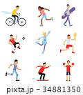 スポーツ 運動 子供のイラスト 34881350
