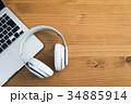 ノートパソコン ヘッドホン パソコンの写真 34885914