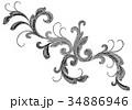 柄 模様 フローラルのイラスト 34886946
