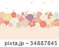 和柄 ベクター 花のイラスト 34887845