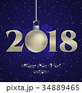 Holiday card for New Year and Christmas 2018 34889465