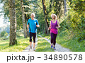 Two active seniors with a healthy lifestyle 34890578