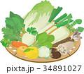 冬野菜・果物かご盛り 34891027