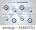 インフォグラフィック 図表 ベクトルのイラスト 34893791