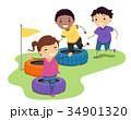 キッズ 子供 障害のイラスト 34901320