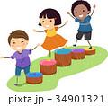 キッズ 子供 障害のイラスト 34901321