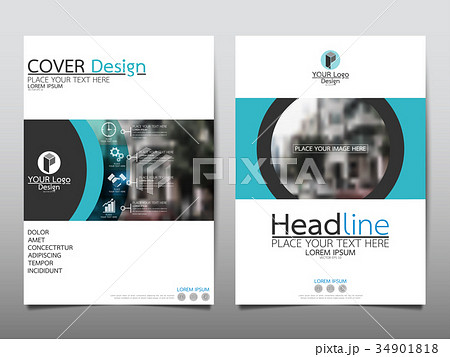 template flyer cover business brochure layout のイラスト素材