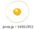 目玉焼き 水彩画 食べ物のイラスト 34901953