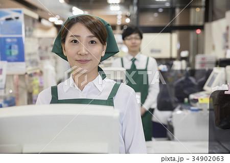 スーパー店員 レジ係 34902063