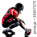 american football player man isolated 34907375