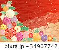 花柄 花 和風のイラスト 34907742
