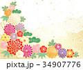 花柄 花 和風のイラスト 34907776