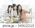 女性 女子会 笑顔の写真 34912213