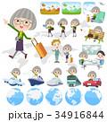 人々 人物 老人のイラスト 34916844