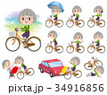green shirt old women_city bicycle 34916856
