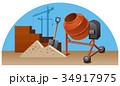 建築 ベクタ ベクターのイラスト 34917975