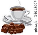 コーヒー チョコレート カップのイラスト 34918007