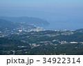 静岡県伊東市 大室山山頂からの伊東の街 34922314