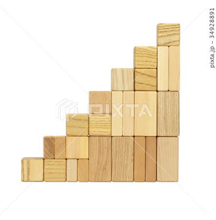 積み木の階段 34928891