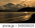 富士山 夕焼け 山中湖の写真 34930020