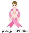 ピンクリボン 女性 34930045