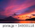 富士山 夕焼け 台風一過 山中湖 34930118