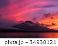 富士山 夕焼け 山中湖の写真 34930121