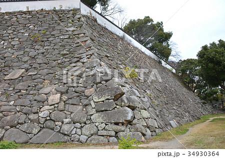 岡山城 本丸石垣 34930364