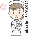 女性 看護師 ベクターのイラスト 34930957