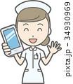 女性 看護師 ベクターのイラスト 34930969