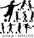 サッカー フットボール 蹴球のイラスト 34931339