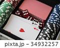 Aluminium suitcase with poker set 34932257