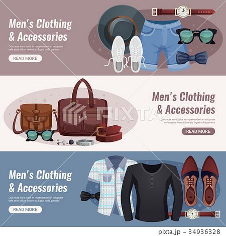 Men Accessories Horizontal Banner Set 34936328