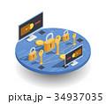 通貨 アイソメトリック アイソメのイラスト 34937035