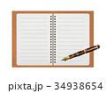 リングノート べっ甲の万年筆 34938654