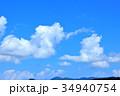 空 青空 雲の写真 34940754