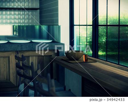 窓際の風景のイラスト素材 34942433 Pixta