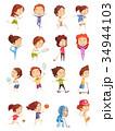 選手 スポーツ 子供のイラスト 34944103