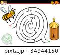 迷路 ハチ ミツバチのイラスト 34944150