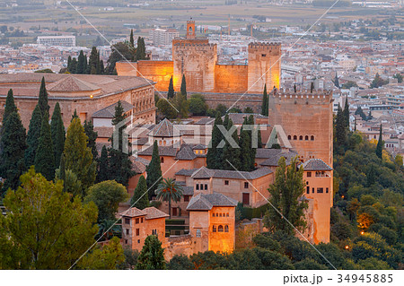 Granada. The fortress and palace complex Alhambra. 34945885
