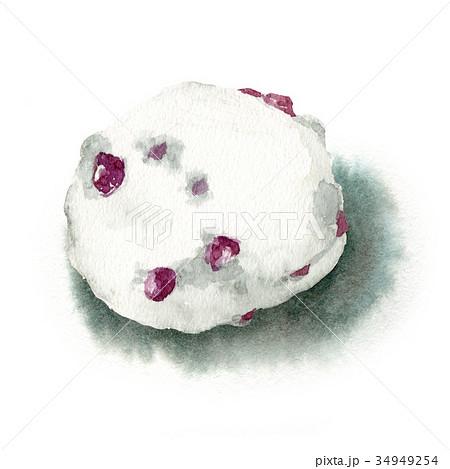 水彩で描いた和菓子/豆大福 34949254