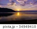 奥琵琶湖の夜明け 34949410