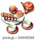 和菓子 セット 秋のイラスト 34949589