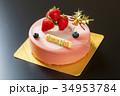イチゴムースのクリスマスケーキ 34953784