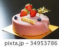 イチゴムースのクリスマスケーキ 34953786