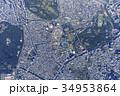 国立競技場 風景 空撮の写真 34953864